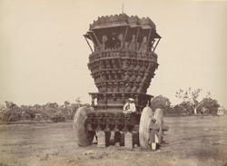 Bunshunkuree. Idol car with stone wheels. [Banashankari, near Badami.]